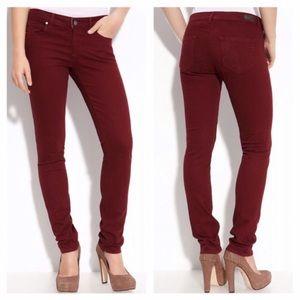 Paige Denim Red Cranberry Skyline Skinny Jeans